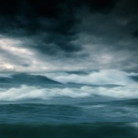 Waves with sky
