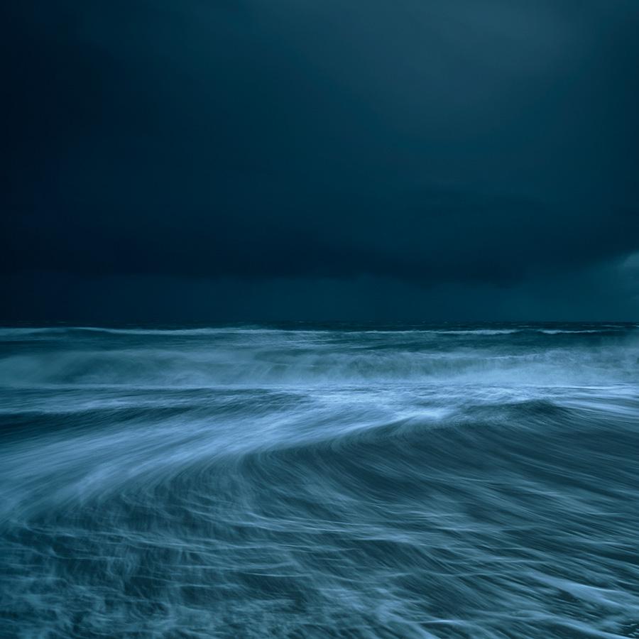 Solent beach rain