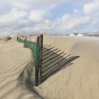 Sand blown